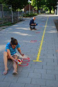 Grundschule Marienthal, Bemalung des Schulhofs