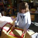 Papier herstellen, Grundschule Marienthal